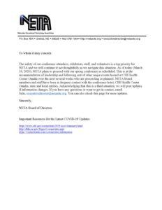 thumbnail of NETA Letter – 3.10.20