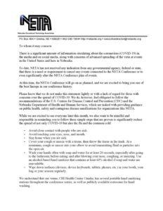 thumbnail of NETA Letter – 3.5.20